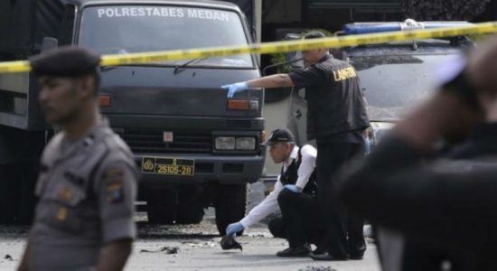 Student bomber dies in attack outside police office in Indonesia