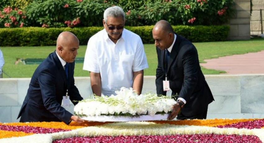 President Gotabaya Rajapaksa meets Indian President Ram Nath Kovind