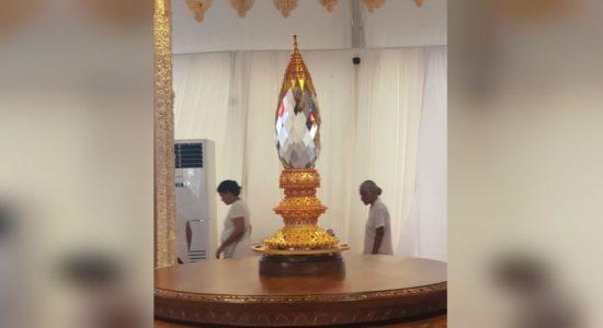 Chooda Manikya to be placed on Ruwanweli Maha Seya this evening