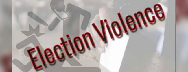 Election violence in Anamaduwa hospitalizes one
