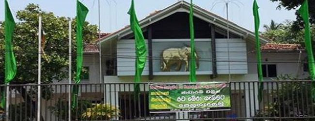 War hero begins protest opposite Sirikotha for a change in UNP Leadership