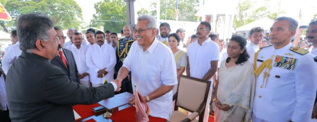 Gotabaya Rajapaksa sworn in as the 7th Executive President of Sri Lanka
