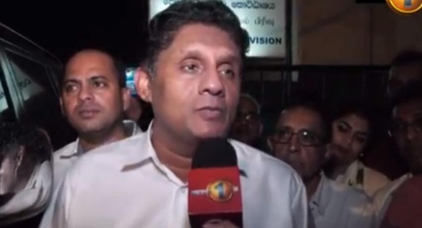 Sajith Premadasa visits Patali Champika Ranawaka in prison