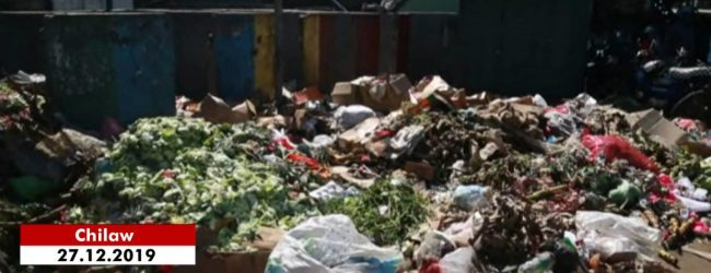 Garbage piled up in Chilaw affects area residents