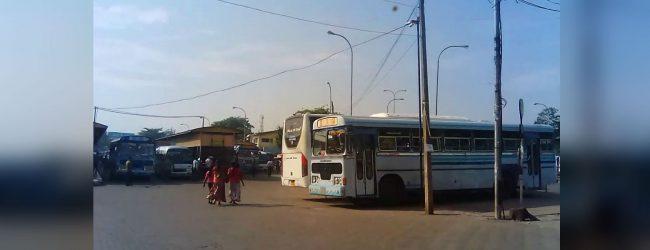 A full fledged transport hub at Bastian Mawatha