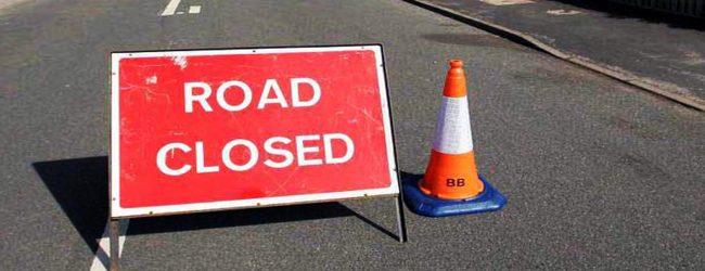 Lane closed due to new Kelani Bridge construction