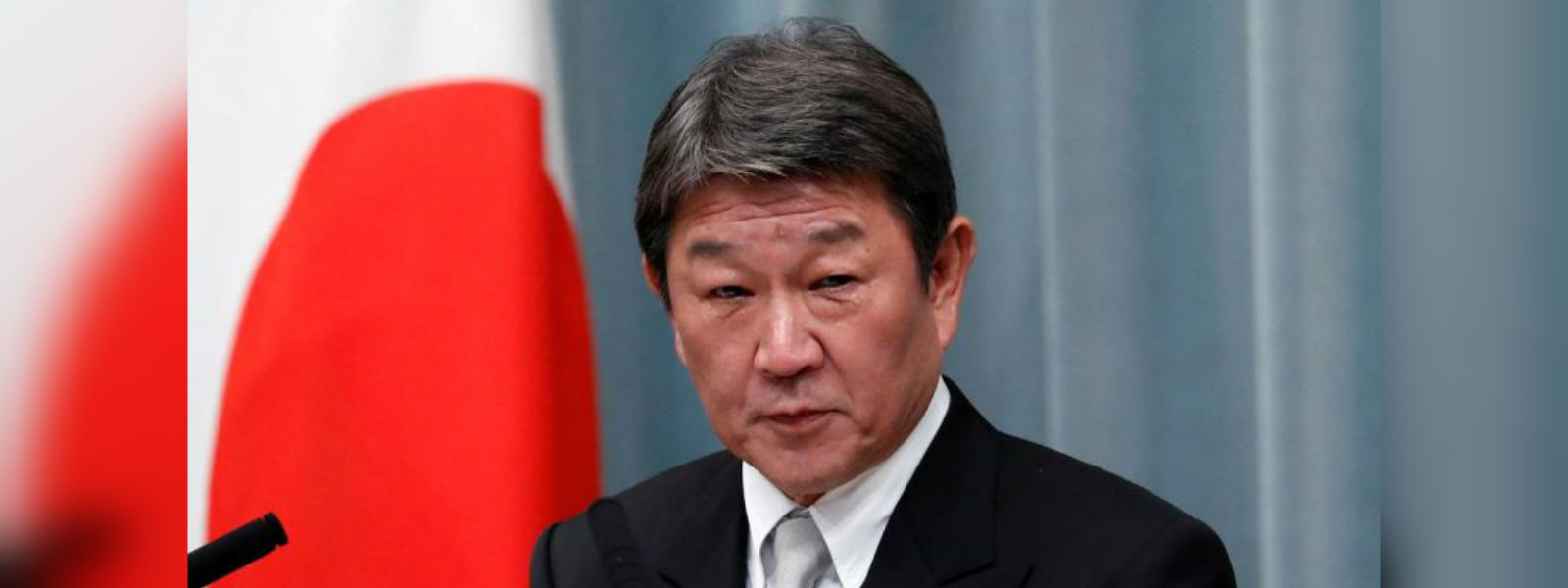 Japanese foreign minister Toshimitsu Motegi arrives in Sri Lanka