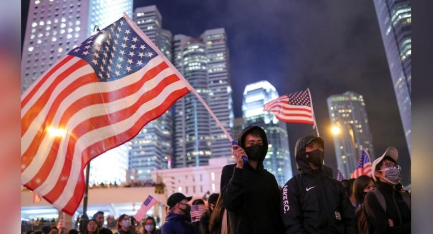 China takes countermeasures after U.S. signs Hong Kong act