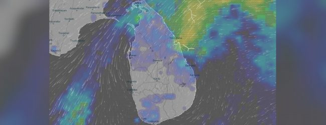 Spells of showers predicted in 2 provinces and Jaffna