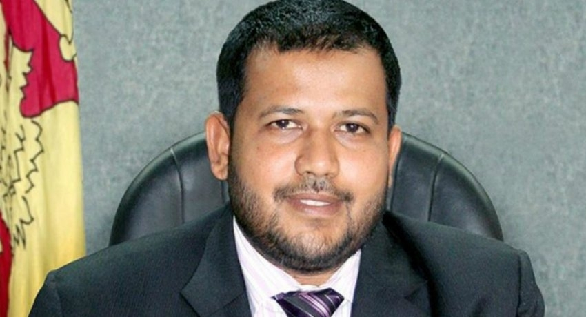 Former Minister Rishad Bathiudeen provides a statement to the CID