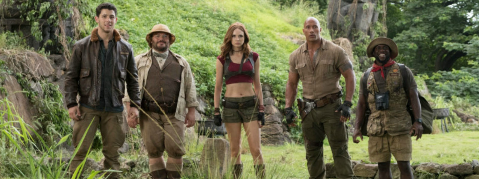 Jumanji cast face their fears in latest sequel