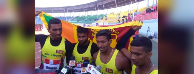 Sri Lankan sprinters set new relay SAG record