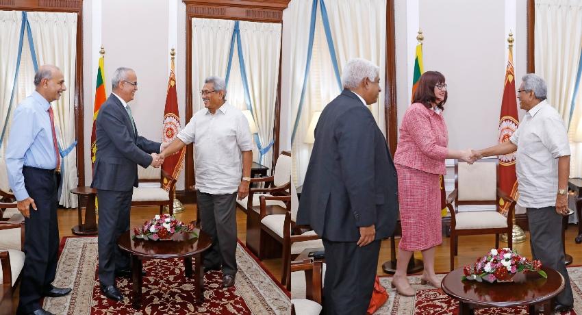 Amb. of UAE and NZ HC calls on President Rajapaksa