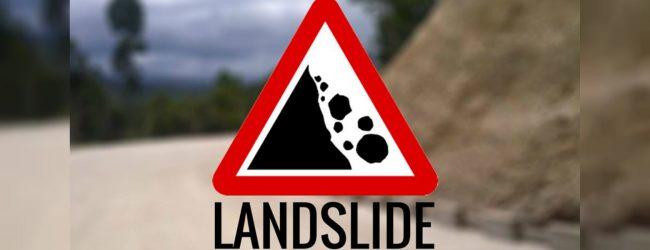 LANDSLIDE WARNING : AMBER ALERT issued for Ududumbara, Kandy