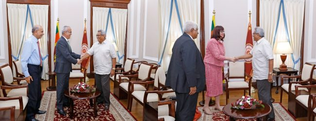Amb. of UAE and NZ HC calls on President Rajapaksa