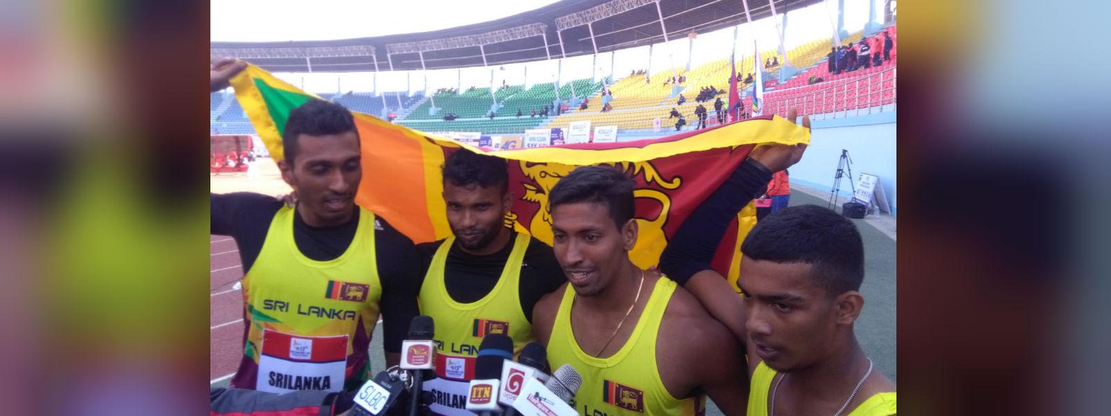 Sri Lankan sprinters set new relay SAG record