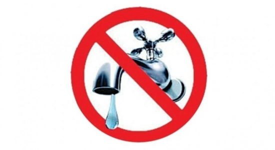 24 hour water cut for Negombo