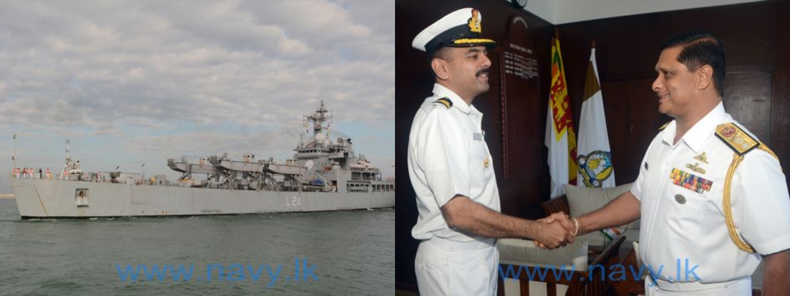 INS Airavat arrives at the port of Colombo