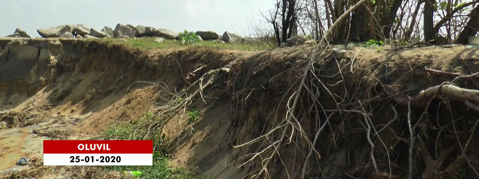 150 Acres of land subjected to coastal erosion in Ampara