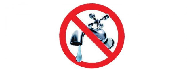 22-hour water cut to be in effect from 9 am