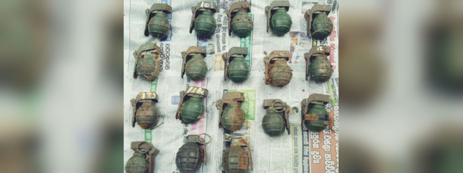 18 live hand grenades discovered in Puthukudiyiruppu