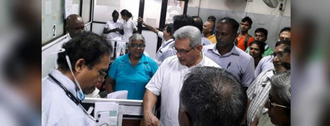 President visits Colombo National Hospital