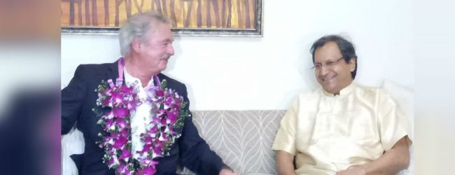 Foreign minister of Luxembourg arrives in Sri Lanka