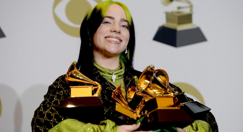 Billie Eilish sweeps Grammy Awards with top 4 prizes