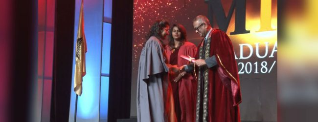 Graduation ceremony of the Maharaja Institute of Management successfully held today