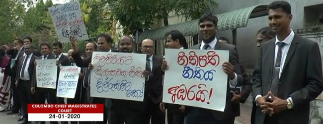 Lawyers stage silent protest against the Attorney General