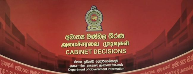 Cabinet approval to amend the Inland Revenue act