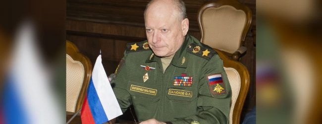Russian General Oleg Salyukov arrives in Sri Lanka