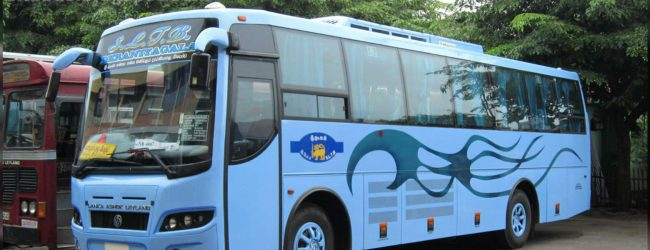 Luxury bus service begins operations to Hambantota