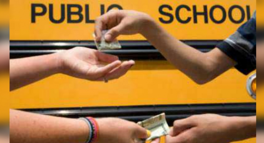 Two people arrested for distributing drugs to school children