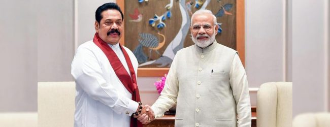 PM Mahinda Rajapaksa to meet Indian PM Modi tomorrow