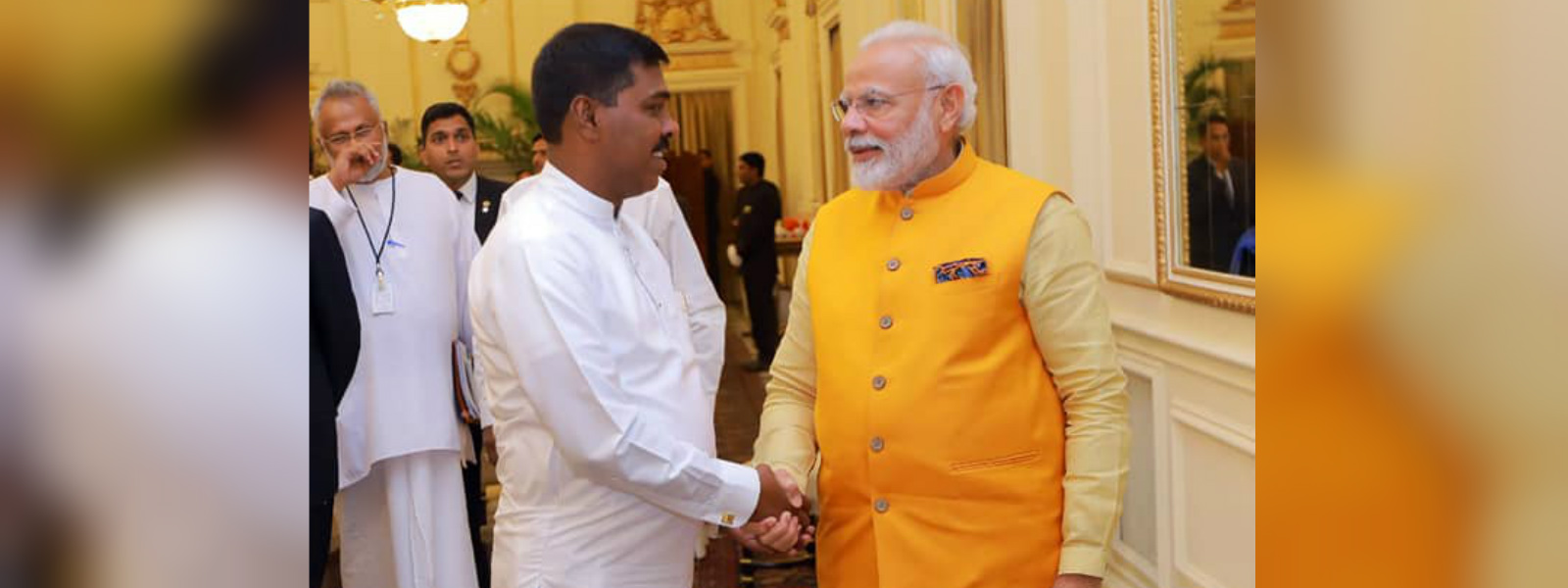 Namal defends Ranaweera's inclusion in Indian delegation
