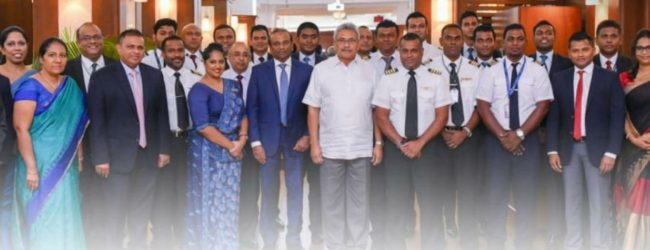 President Rajapaksa hosts SriLankan crew that flew to Wuhan