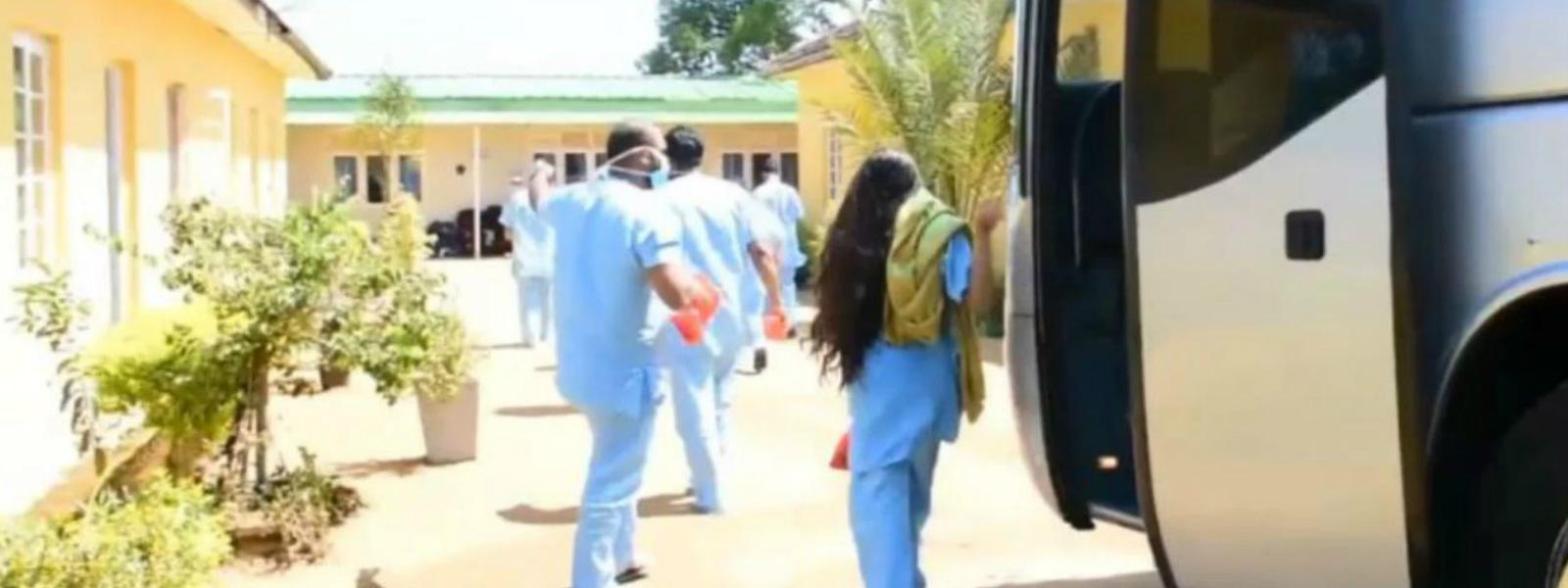 Students quarantined in Diyatalawa sent home
