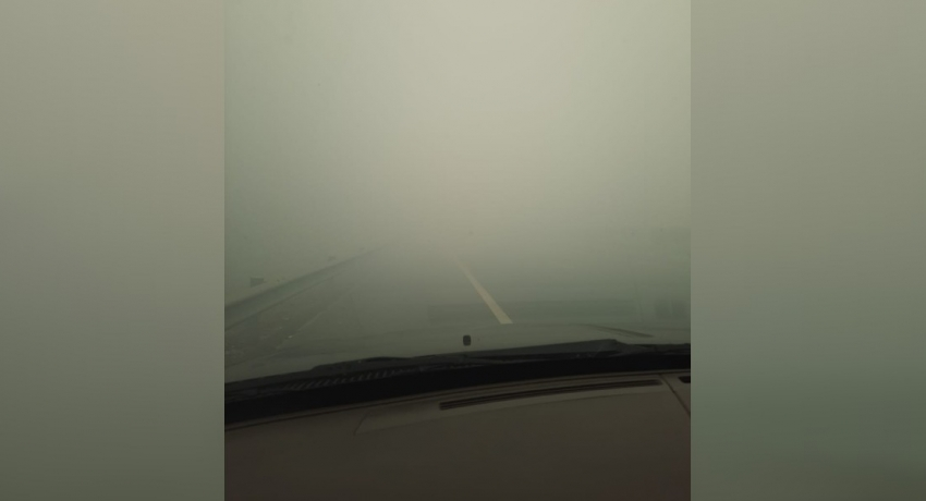 UPDATE : Airport highway closed due to poor visibility