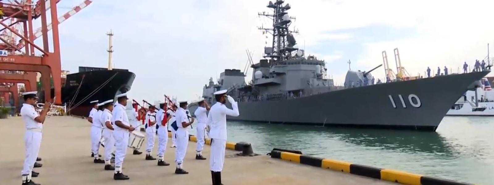 JMSDF Takanami arrives at the Colombo Port