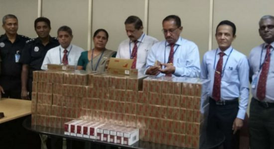 Customs confiscates foreign cigarettes worth over Rs 1.5mn