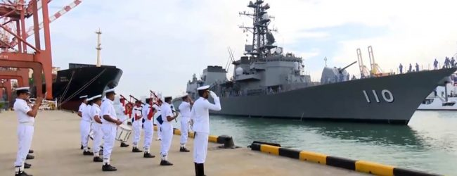 JMSDF Takanami arrives at the Colombo Port