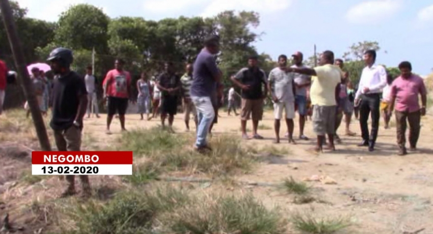 Negombo residents protest demanding permission to construct playground