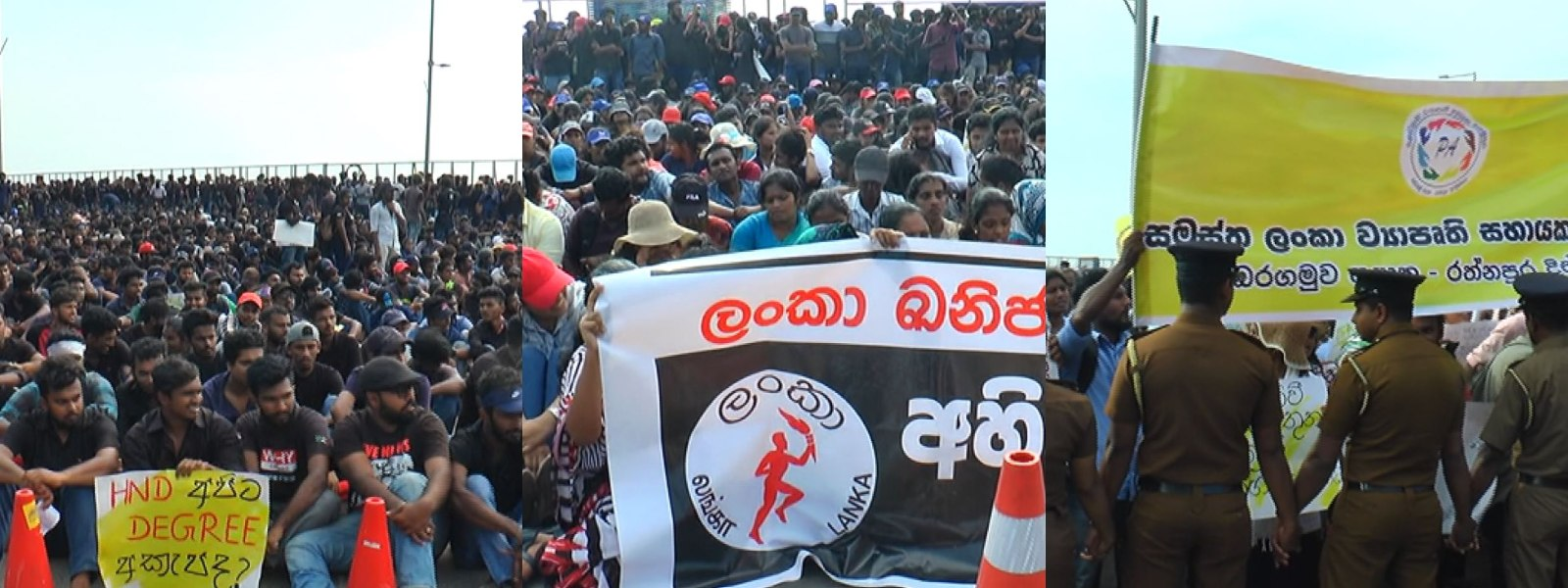3 protests cause heavy traffic congestion near Presidential Secretariat