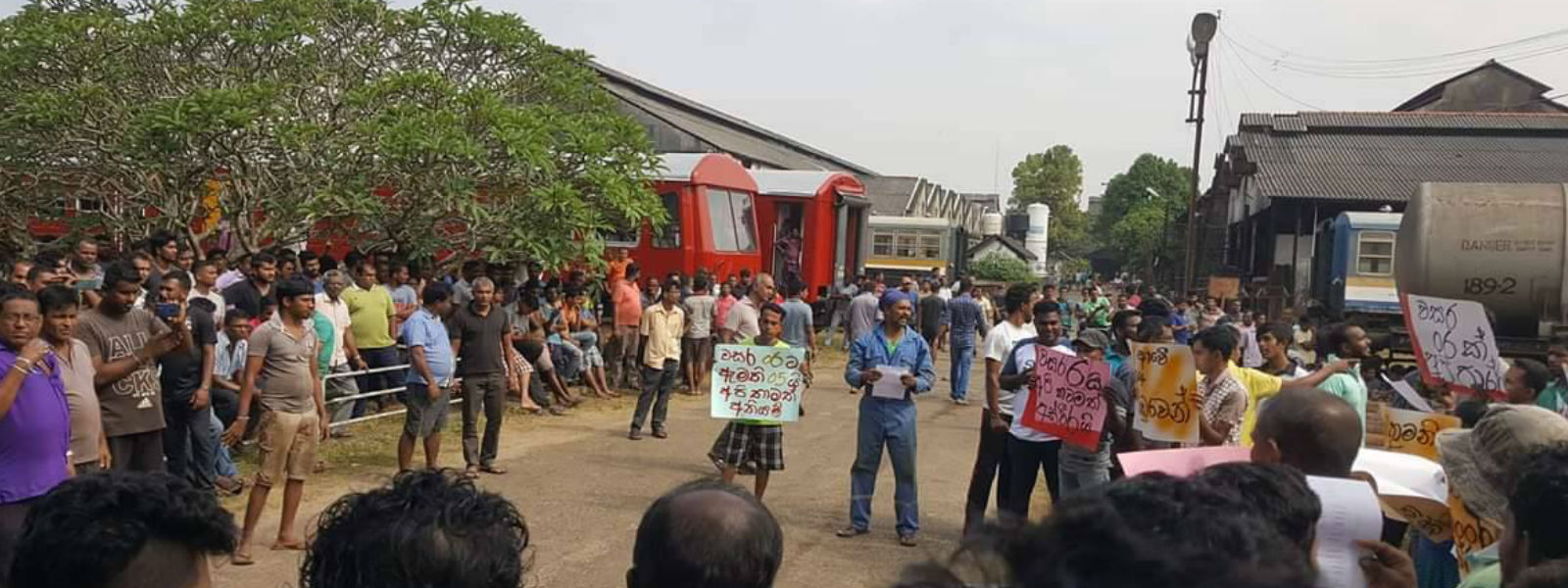 Railway workers stage another protest
