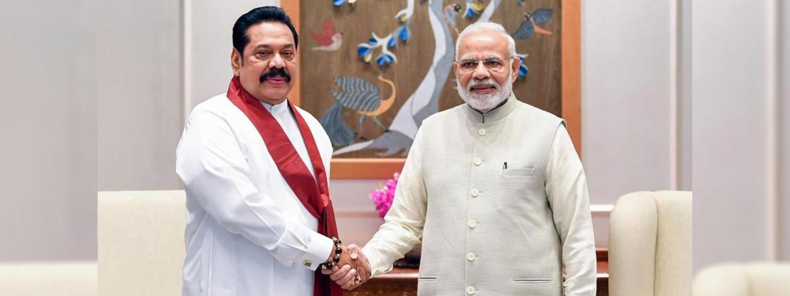 PM Mahinda Rajapaksa to meet Indian PM Modi tomorrow