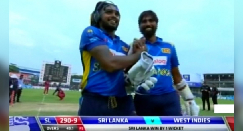 Sri Lanka wins first ODI in three-match series with Windies