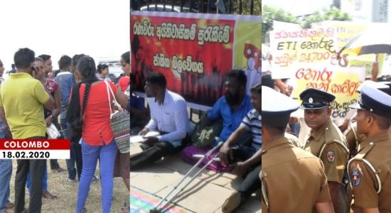 Several protests continue in Colombo