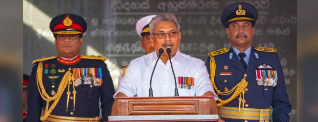 President Gotabaya Rajapaksa takes aim at poverty and corruption in independence address