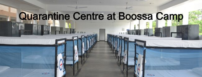 Quarantine Centre at Boossa Navy Camp to house 136 people